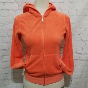 Juicy Couture Orange Robertson Zip Up Hoodie